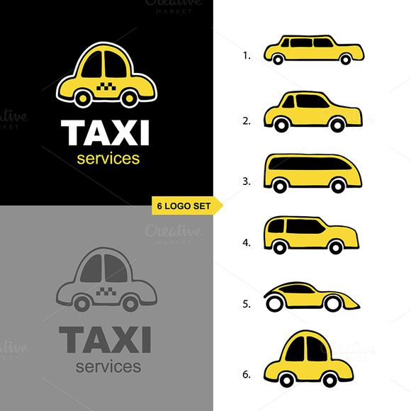 taxi service logo set by @Graphicsauthor