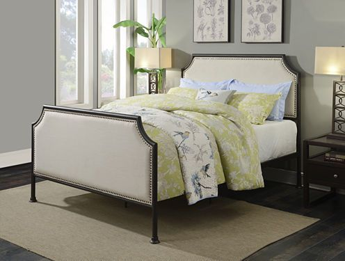 FREE SHIPPING AVAILABLE! Buy Home Meridian Industrial Clipped Upholstered Sleigh Bed at JCPenney.com today and enjoy great savings. Available Online Only!