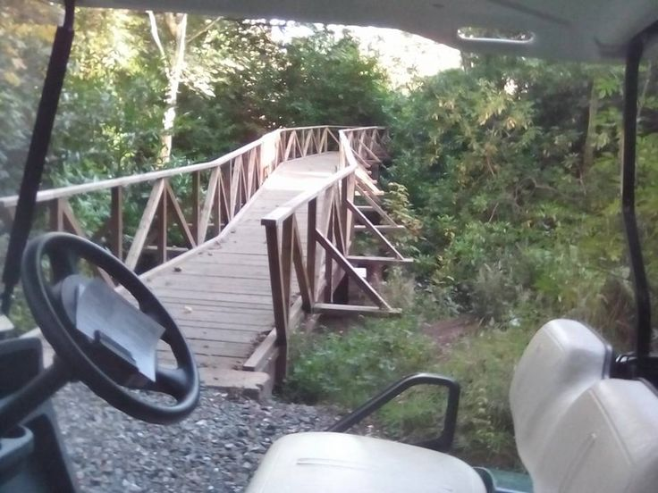 A 28m walking bridge made by me for the golf course big enough for a golf buggy.