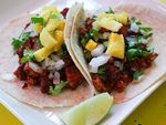 Al Pastor taco at Tortilleria NixtamalSome of the best Mexican restaurants in town use the tortillas made at this factory. Go straight to the source Fridays through Sundays, when Nixtamal's small caf offers tacos al pastor: marinated pork butt roasted on