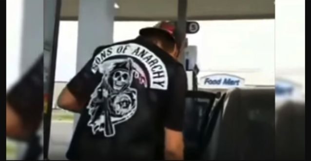 Watch: Furious 'Biker' Forces Man to Take Off Sons of Anarchy Vest Because 'He Didn't Earn It'