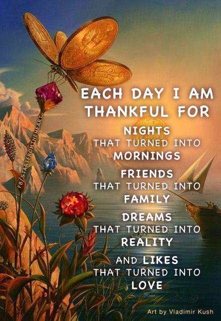 Gratitude quote via www.Facebook.com/StartFromTheHeart