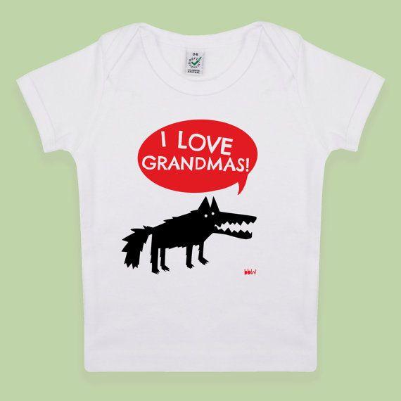 Ich Liebe Omas in rot mit Big Bad Wolf Baby / von BigBadWolfDesign