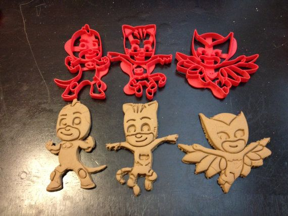 PJ Masks Cookie Cutters. Cat Boy Gekko and by HomesAndHolmes