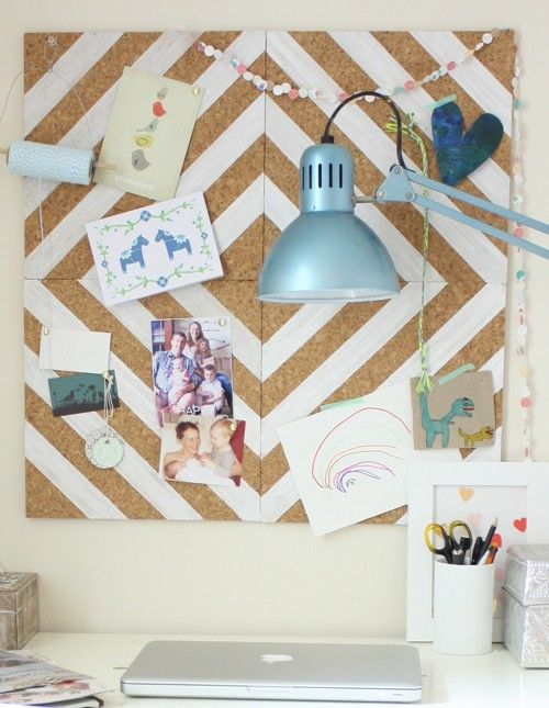 { DIY: Cork Board } | The Glamourai: Corks Tile, Paintings Corks, Idea, Pin Boards, Bulletin Boards, Corks Boards, Dorm Rooms, Paintings Corkboard, Diy Paintings