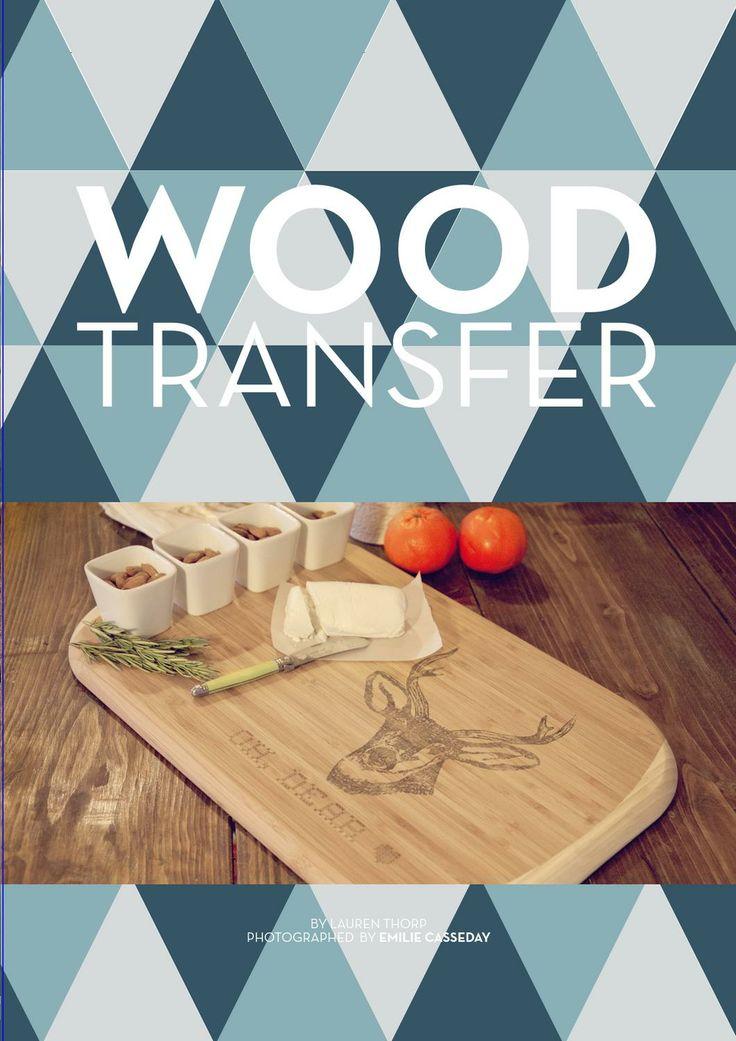 Emma Magazine - tick, wood transfer DIY -tick