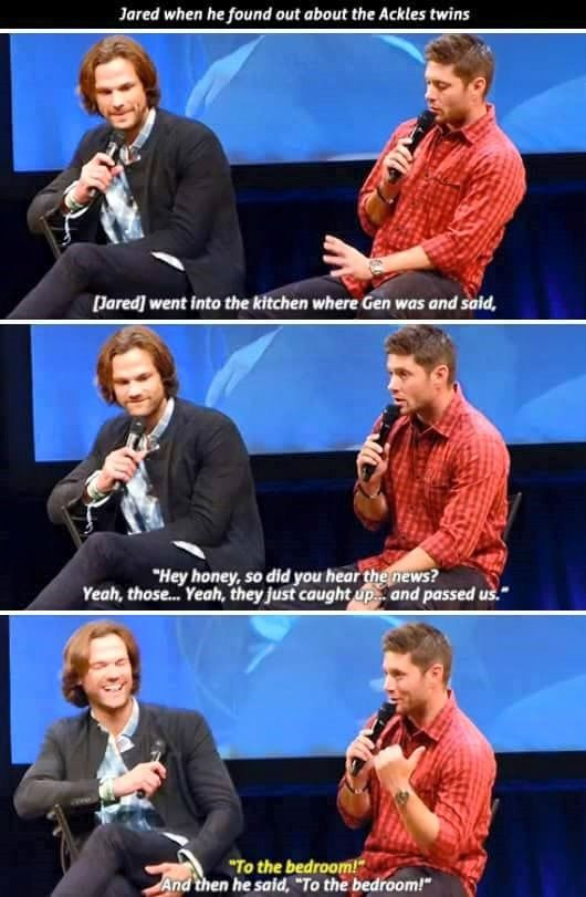 Congrats to both the Ackles and Padalecki families on the announcement of their third child