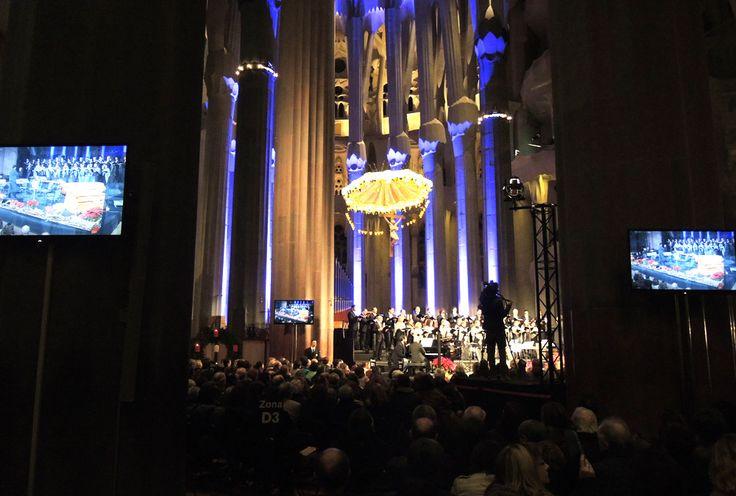 Alquiler de Monitores LED, LCD y plasma Refuerzo de monitores para los eventos en la Sagrada Familia de Barcelona