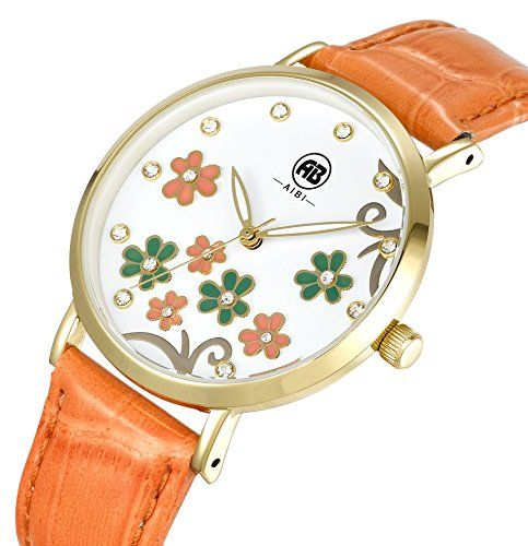 AIBI Wasserdicht Damen-Armbanduhr Kristall Blume Mode Quarz Leder AB50601-4 - http://uhr.haus/aibi/aibi-wasserdicht-damen-armbanduhr-kristall-mode-2