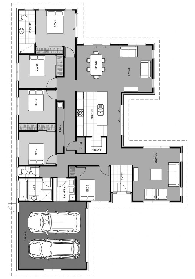 Tangaroa Floorplan 232m2 House Construction Plan My House Plans House Floor Plans