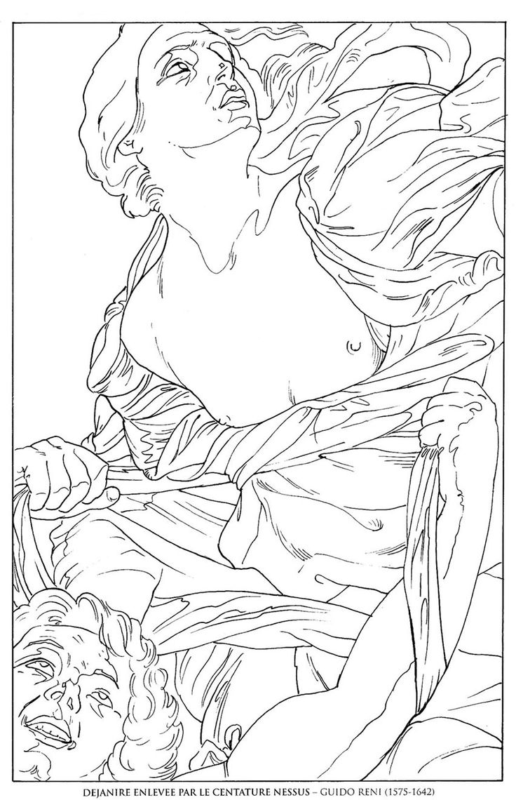 Coloring Pages Coloring Pages Of Famous Paintings 1000 images about art coloring pages on pinterest dejanire enlevee par centaure nessus guido reni famous paintings pages