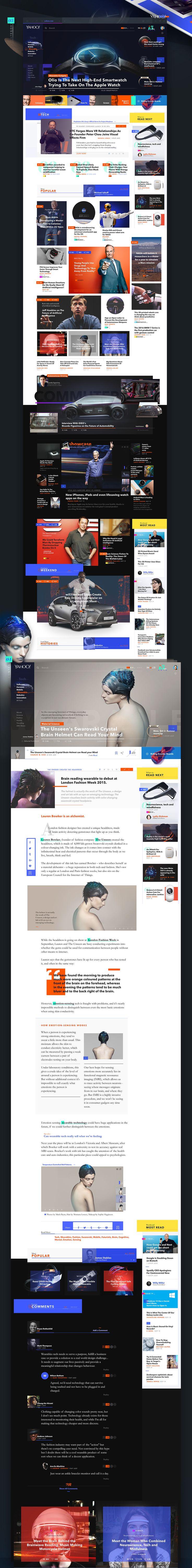 Yahoo! News Redesign Experience / Josué Solano