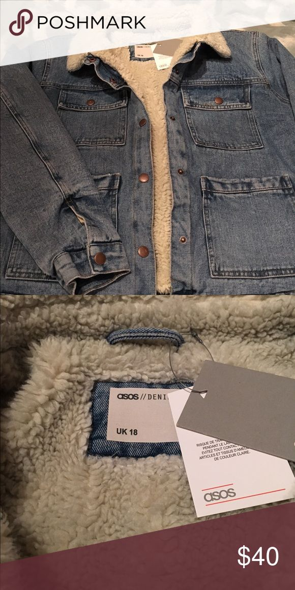 ASOS Denim Jacket with Fur Collar Brand new ASOS Denim Jacket with Fur Collar. It was too big for me but I unfortunately waited too long to return. Jackets & Coats