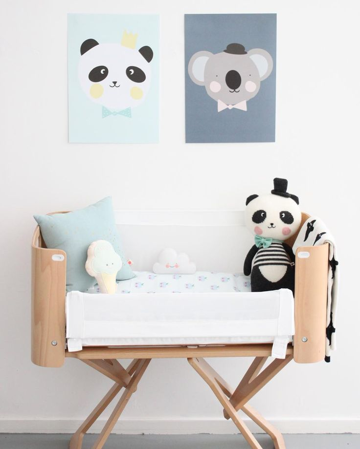 Cute panda inspired nursery space