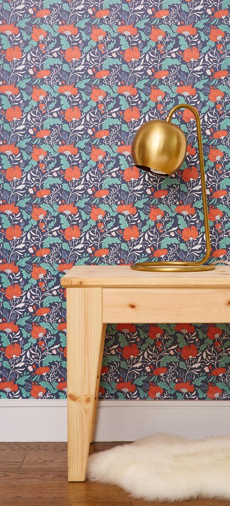 Autumn Florals Removable Wallpaper - Paper Raven Co. for Chasing Paper