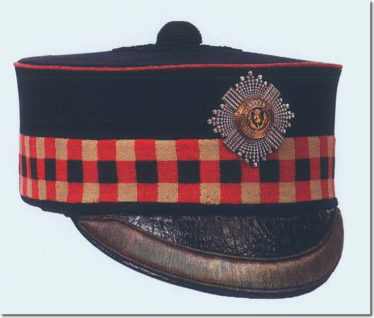 British Infantry: The Royal Scots: forage cap 1881-1901