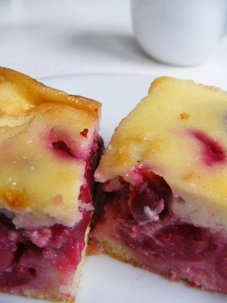 Tejfölös meggyes sütemény: Meggyes Sütemény, Cherries Cakes, Meggy Süteméni, Tejfölö Meggy, Cakes Mmmmmmm, Tejfölös Meggyes