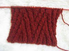 Ponto tricô para cachecol masculino
