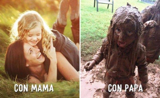 Mamá vs Papá......