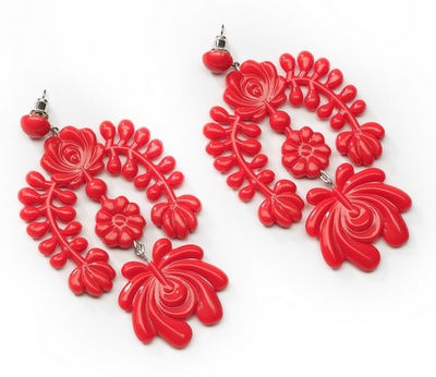 amazing Hungarian flower earrings