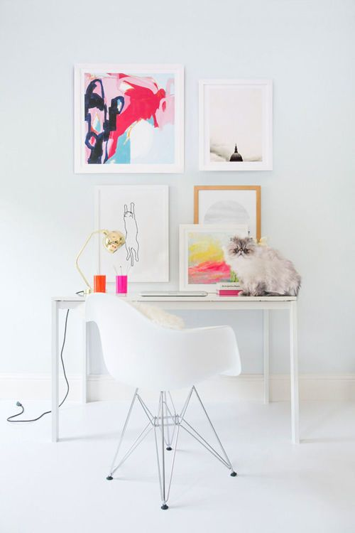 splashes of color can give your office a whole new vibe