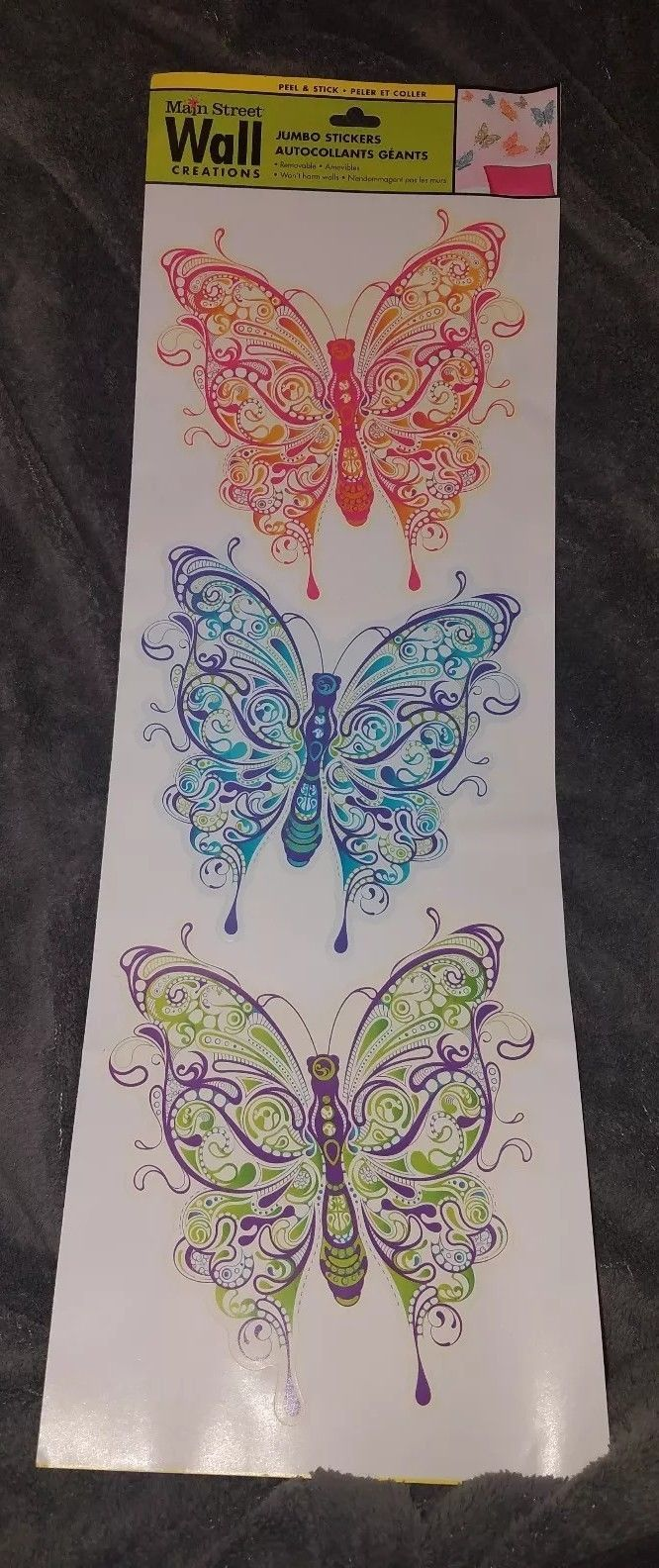 New Main Street Wall Creations Jumbo Stickers Fancy Paisley Butterflies Ebay Wall Creations Vinyl Wall Decals Nursery Custom Vinyl Wall Decals
