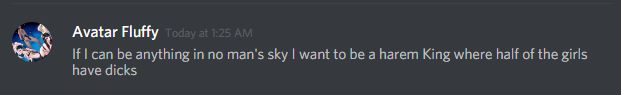 So we can do anything in No Man's Sky you says?