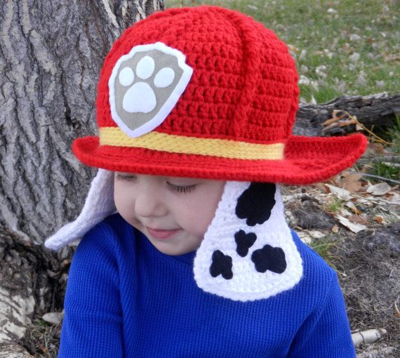 Paw Patrol Marshall Crochet Hat Pattern by KismetCrochet on Etsy