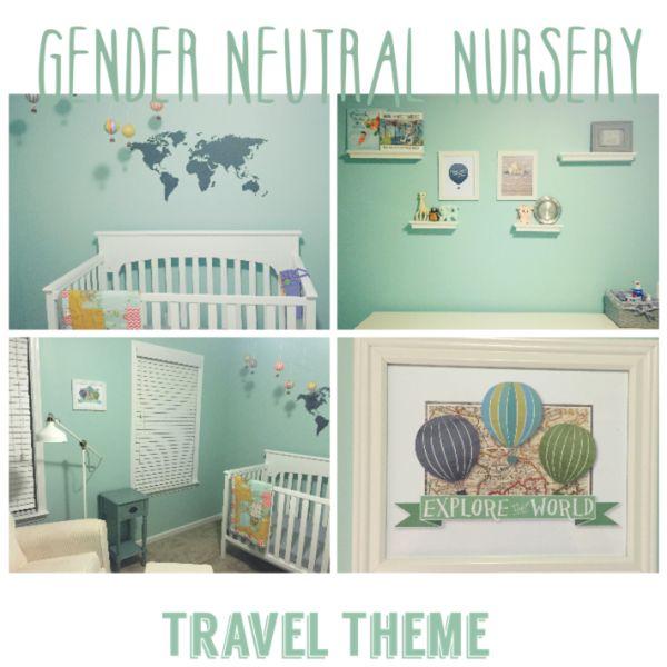 Travel Themed Gender Neutral Nursery Travel Themed
