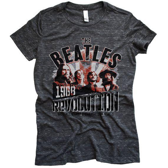 Women's Beatles Shirts, Band Tees, 70s Tshirts, Womens Band Tees, The Beatles Merch, Tees and Tops, Classic Rock Tees, Custom Ink