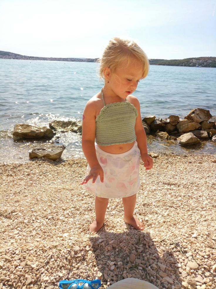 Croatia girl. Crochet swimsuit. Babygirl, my Chloé