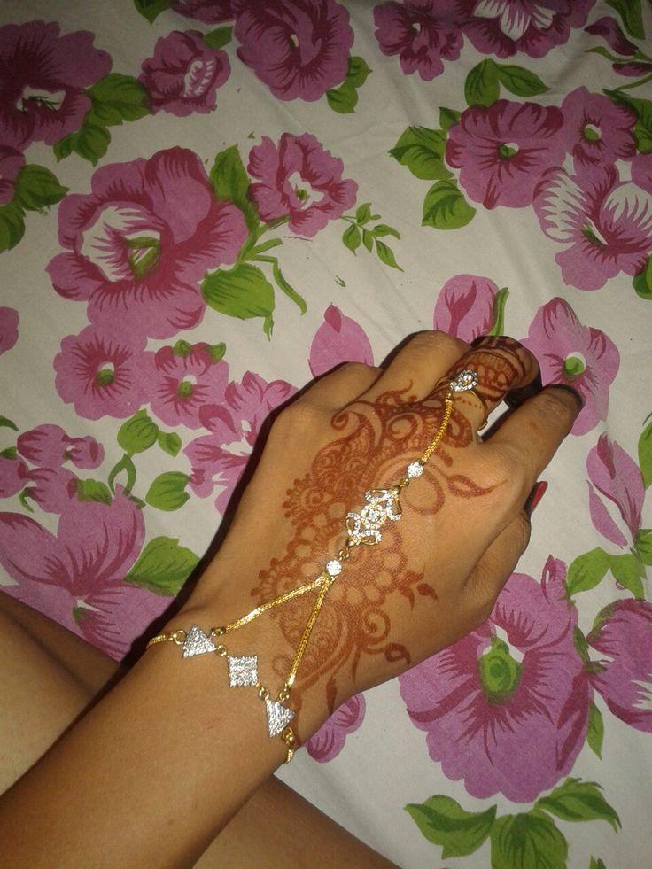 Hand breslate on suitable mahendi design
