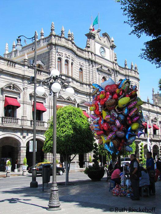 Balloon Vendor in the Zocalo, Puebla, Mexico