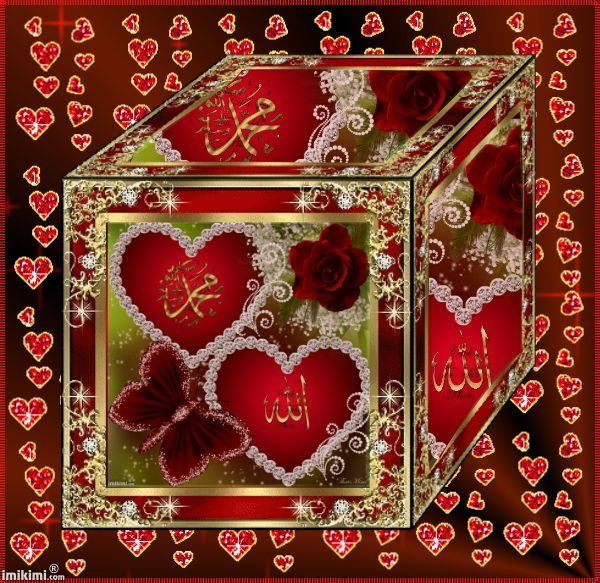 Red Animated 3d Cube Frame Allah Pinterest Allah And