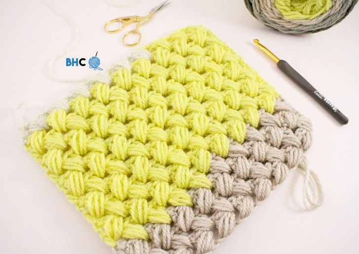 How to Crochet the zig zag puff stitch. Easy to follow video tutorial from B.hooked Crochet. #crochet #crocheting #bhooked
