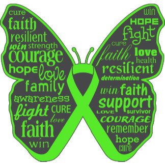 Non-Hodgkins Lymphoma Butterfly Collage of Words