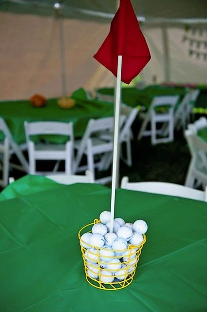 golf themed table number