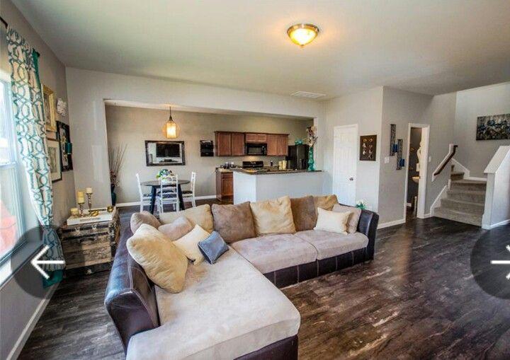 Gray Teal Rustic Modern Vintage Decor Living Room