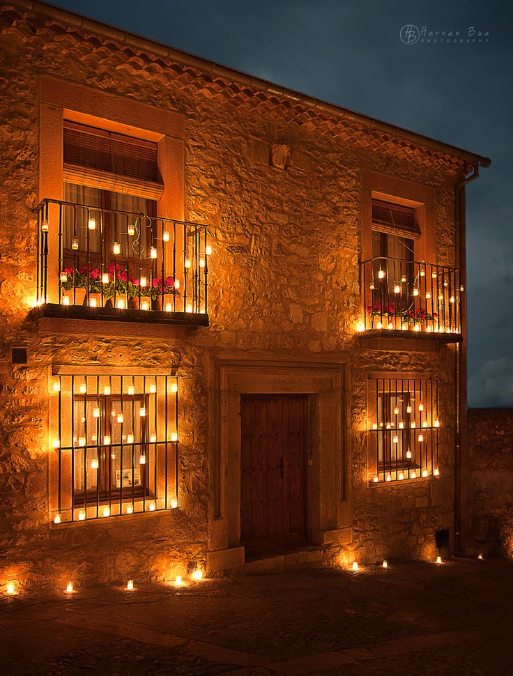 Nights of the candles in Pedraza village, Segovia,Spain.