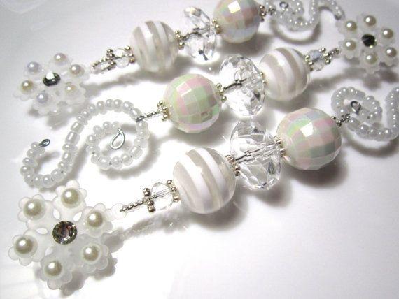 3 witte sneeuwvlok Kerst ornamenten: van ChristmasisMagical op Etsy