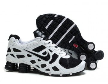 Nike Store. Nike Shox Turbo 12 Men's Running Shoes - White/Black - Wholesale