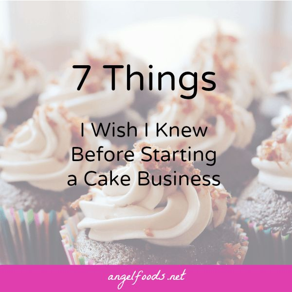 how to start a succesfull cake business