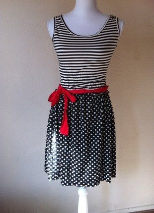 Kaufe meinen Artikel bei #Kleiderkreisel http://www.kleiderkreisel.de/damenmode/klassische-kleider/147384654-susses-maritimies-lolita-kleid-promod-3638-polkadots-and-stripes