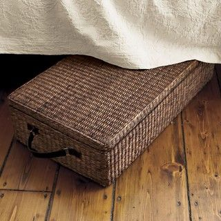 Under Bed Storage Box With Lid, Dark Brown - contemporary - storage boxes - by The Company Store