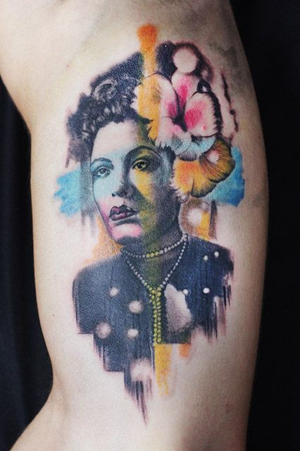 """Where was your first job as a tattoo artist? """"I basically just tattooed all over the world, on the road, for the first six years. The first shop I ever worked at was a bootleg/pirate/MTV shop in Bogota, Colombia.""""How would you describe your tattoo style? """"Magic realism."""""""