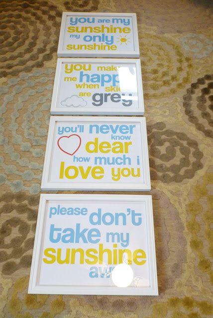 You Are my Sunshine--Free Printable