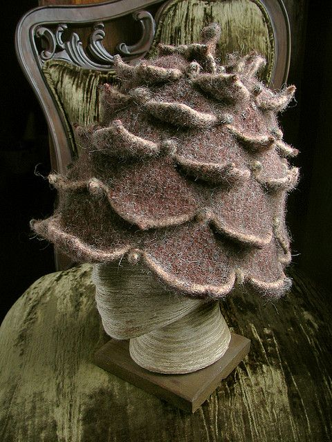 pinecone hat: front by chronographia, via Flickr