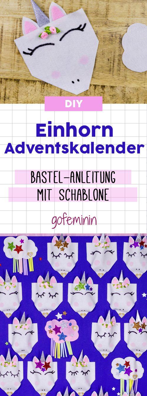 Step by Step Bastelanleitung für einen Einhorn-Adventskalender