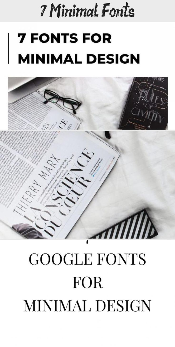 Free minimal fonts Which fonts are best to create a