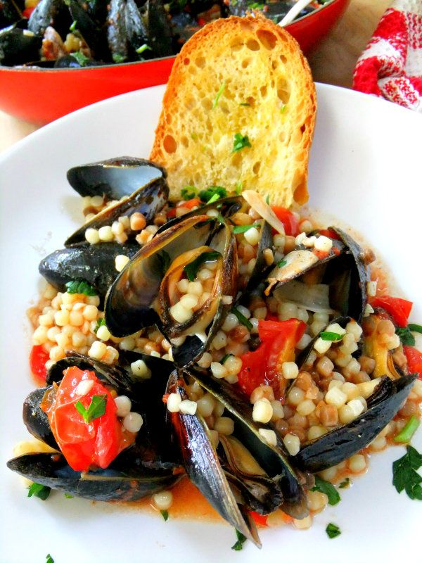 mussels with fregola                                                                            Tonight!